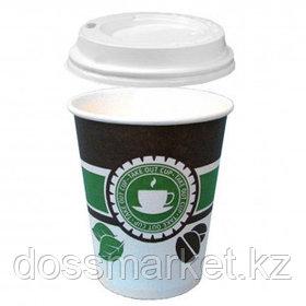 """Стакан бумажный одноразовый """"Take out cup"""" с крышкой, 300 мл, цена за штуку"""