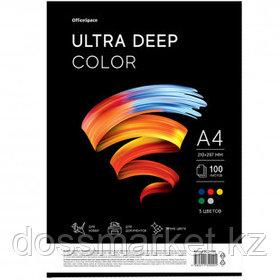 """Бумага OfficeSpace """"Ultra Deep Color"""", А4, 80 г/м2, 100 листов, 5 цветов, ассорти"""