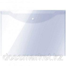 Папка-конверт с кнопкой OfficeSpace, А3, 150 мкм, до 100 листов, прозрачная