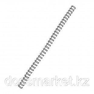 9,5 мм. Металлические черные пружины для переплета, для сшивания 65 листов, шаг 3:1, 100 шт/упак