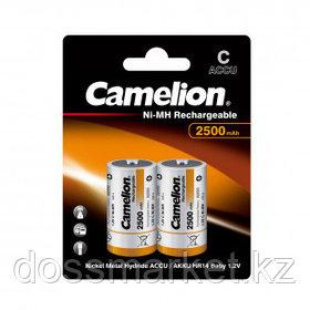 Аккумулятор Camelion Rechargeable, бочонок С, Ni-MH, 2500 mAh 1.2V, 2 шт./уп., цена за упаковку