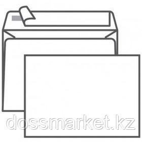 Конверт горизонтальный Гознак, формат C6 (114*162 мм), белый, отрывная лента