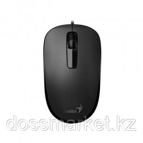 Мышь проводная оптическая Genius DX-125, USB, 3 кнопки, 1000 dpi, черная