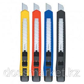 Нож канцелярский Berlingo Office, сменные лезвия 9 мм, в индивидуальной упаковке, ассорти