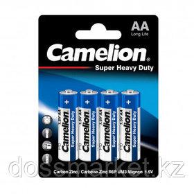 Батарейки Camelion Super Heavy Duty пальчиковые AA R6P-BP4B, 1.5V, 4 шт./уп, цена за упаковку