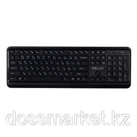 Клавиатура беспроводная Delux DLK-1900OGB, ENG/RUS/KAZ, черная