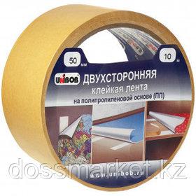 Двусторонняя клейкая лента Unibob, размер 50 мм*25 м, полипропилен