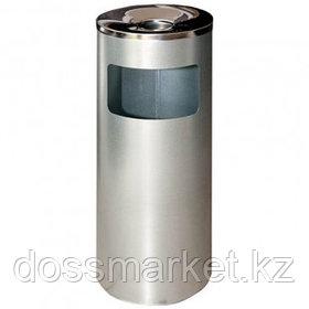 """Урна металлическая """"Титан"""" с емкостью для пепла, 250*250*602 мм, 30 л, серый металлик"""