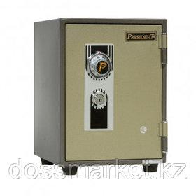 Огнеупорный сейф President MS2, механический код+ключ, 329*394*437 мм, 40 кг