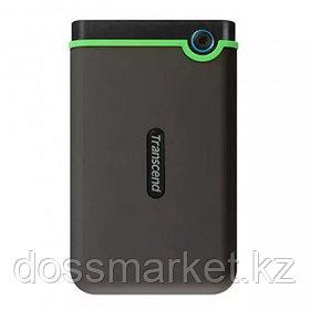 """Жесткий диск 1 TB, Transcend """"StoreJet 25M3"""", 2,5"""", USB 3.0, HDD, черный-зеленый"""
