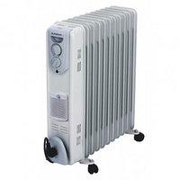 Радиатор масляный Almacom ORF-11Н, 2,5 кВт, с вентилятором, серый