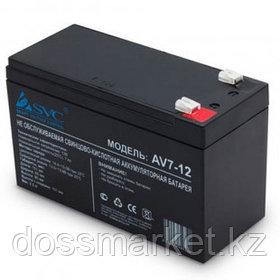 Аккумуляторная батарея SVC AV7-12, 12В, 7 Ач, размер 95*151*65 мм, черная
