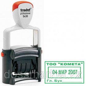 Датер Trodat Professional 5430, высота шрифта 4 мм, металлический