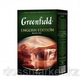 Чай Greenfield English Edition, черный, 200 гр, листовой