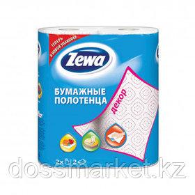 """Полотенца бумажные Zewa """"Декор"""", 2-х слойные, 2 рулона в упаковке, 15 м, белые"""