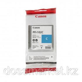 Картридж оригинальный Canon PFI-102С для imagePROGRAF-iPF500/600/700/710, голубой