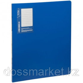 """Папка Berlingo """"Standard"""", А3 формат, на 4 кольцах, вертикальная, корешок 27 мм, синяя"""