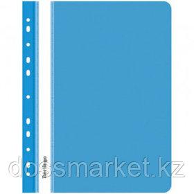 Папка-скоросшиватель Berlingo, А4 формат, 180 мкм, синяя, с перфорацией