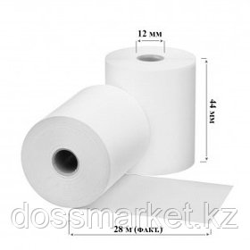 Чековая лента для кассового аппарата, 44 мм*30 м*12 мм (А)