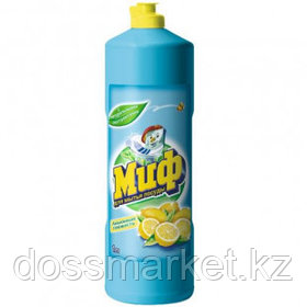 """Средство для мытья посуды Миф """"Лимонная свежесть"""", 1000 мл"""