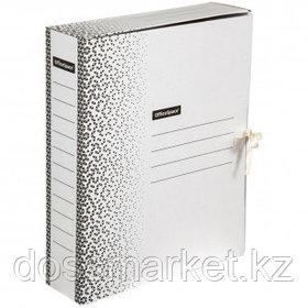 """Папка архивная OfficeSpace """"Standard"""", 75*260*320 мм, вместимость 700 листов, с завязками, белая"""