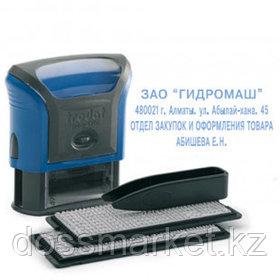 Штамп самонаборный Trodat 4912/DB, 4 строки, 47*18 мм, кириллица+казахские буквы