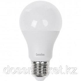 Лампа светодиодная Camelion LED9-A60/845/E27, 9 Вт, 4500К, нейтральный белый свет, E27, форма груша
