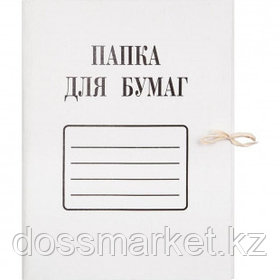 Папка с завязками Attache, А4 формат, мелованная, 280 г/м2