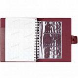 Ежедневник недатированный Misterio, А5, 176 л, бордовый, фото 4