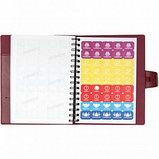 Ежедневник недатированный Misterio, А5, 176 л, бордовый, фото 5
