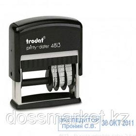 Датер со свободным полем Trodat 4813, высота шрифта 3,8 мм, металл/пластик