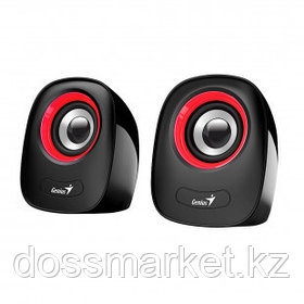 Колонки Genius SP-Q160, 6 Вт, MiniJack 3.5, USB, красные