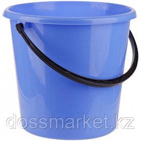 Ведро пластиковое OfficeClean, 12 литров, пищевой, голубое