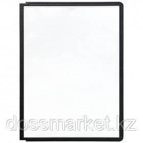 Комплект демо-панелей Durable, А4, черная рамка, 5 шт/упак