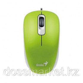 Мышь проводная оптическая Genius DX-110, USB, 3 кнопки, 1000 dpi, зеленая