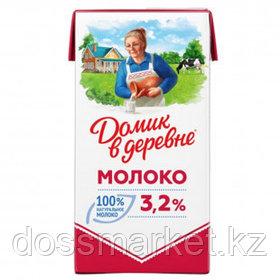 Молоко Домик в деревне, 925 мл, 3,2%, тетрапакет