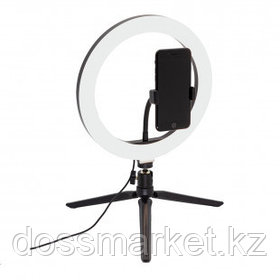 Светильник настольный кольцевой Artstyle TL-601B, 10 Вт, LED, диммирование 10 уровней, USB-порт