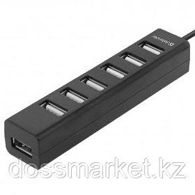 Расширитель USB, Defender Swift, 7 портов, USB 2.0, черный