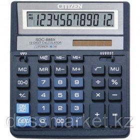 Калькулятор настольный Citizen SDC-888XBL, 12 разрядов, 203*158*31 мм