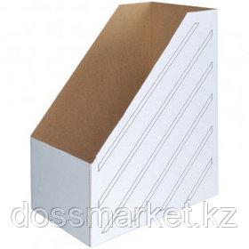 Накопитель-лоток архивный из микрогофрокартона OfficeSpace, вместимость 1400 листов, 150 мм, белый