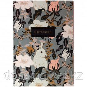 """Записная книжка """"Rabbit"""", A5, 24 листа, золотое тиснение, слоновая кость"""