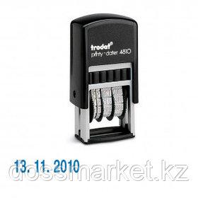Мини-датер Trodat 4810 BANK*, высота шрифта 3,8 мм, металл/пластик