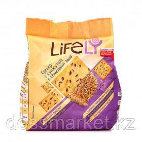 Крекер LifeLY, с кунжутом и семенами льна, 180 гр