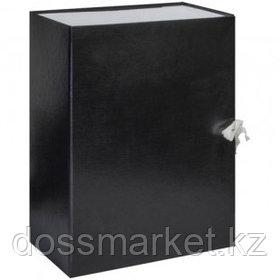 Архивный короб OfficeSpace, 130*240*320 мм, вместимость 1000 листов, с завязками, картон, ассорти