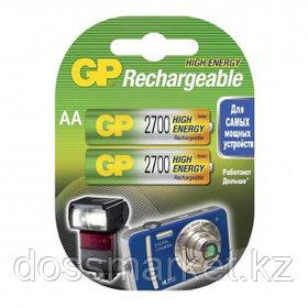 Аккумулятор GP 270AAHCRA, пальчиковые АA, Ni-MH, 2700 mAh, 1.2V, 2 шт, цена за упаковку