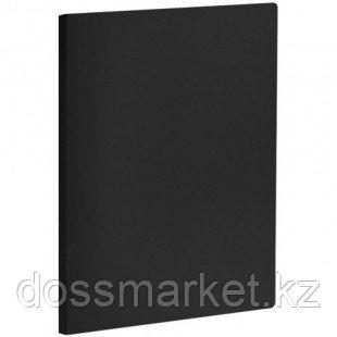 Папка OfficeSpace с зажимом, А4 формат, корешок 20 мм, черная