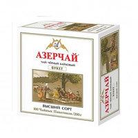 """Чай Азерчай """"Букет"""", черный, с бергамотом, 100 пакетиков"""