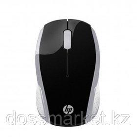 Мышь беспроводная HP 200, USB, 3 кнопки, 1000 dpi, оптическая, серебристая