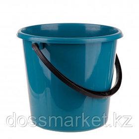 Ведро пластиковое OfficeClean, 7 литров, пищевой, сине-зеленый