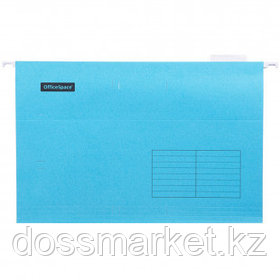 """Папка подвесная OfficeSpace """"Foolscap"""", А4+ формат, синяя"""